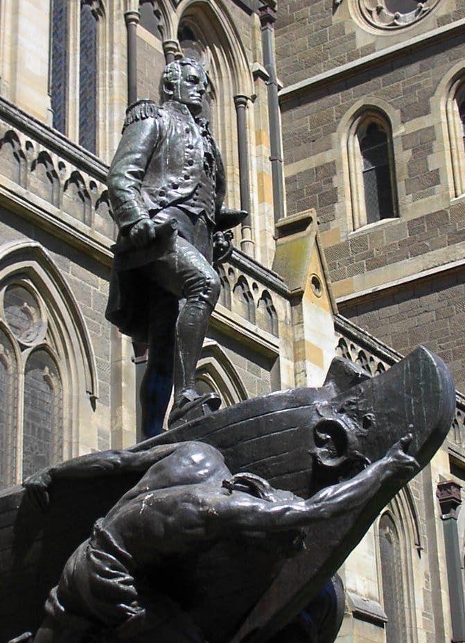 تمثال لفليندرز بميلبورن بأستراليا