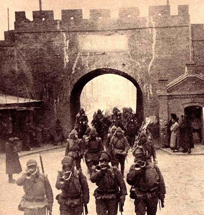 صورة لجنود يابانيين بمنشوريا عام 1931