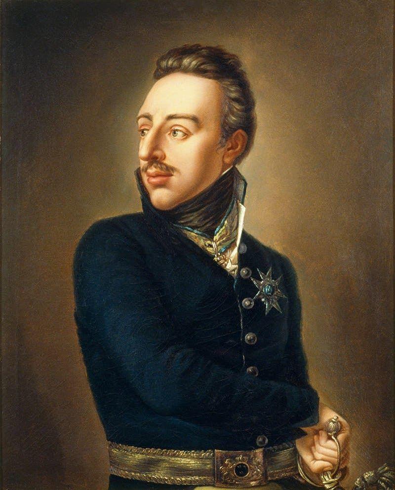 لوحة تجسد ملك السويد غوستاف الرابع أدولف