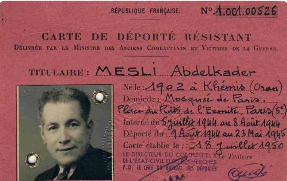 وثيقة فرنسية تبرز فترة اعتقال عبد القادر مسلي