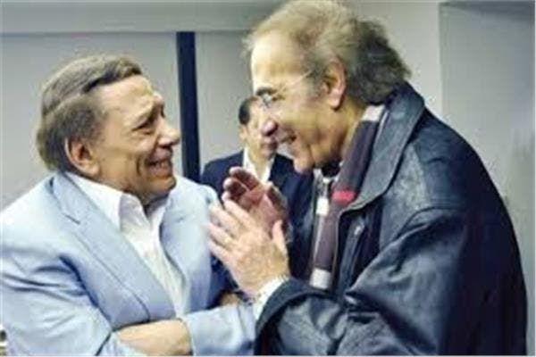 محمود ياسين وعادل إمام