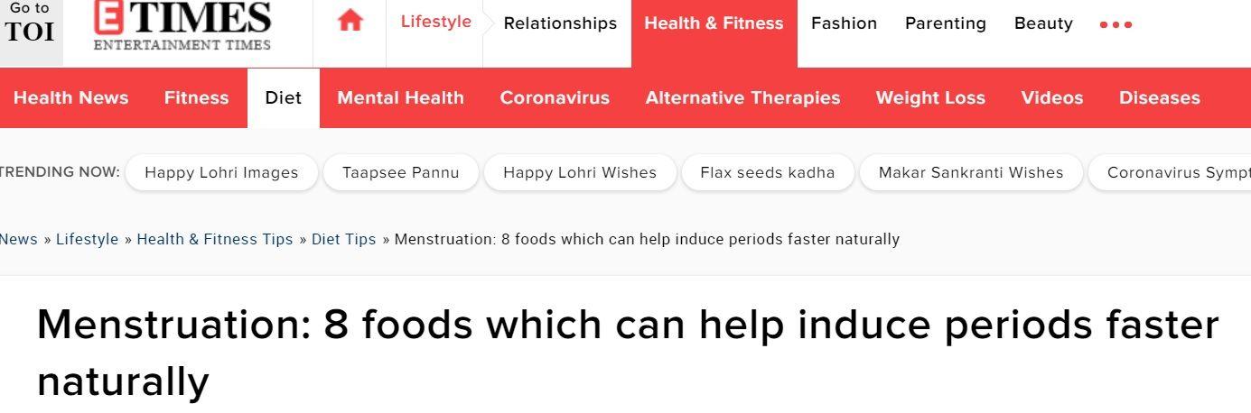 اطعمة تعزز انتظام الدورة الشهرية