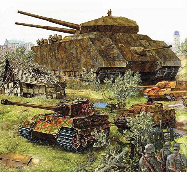 رسم تخيلي للدبابة العملاقة الألمانية
