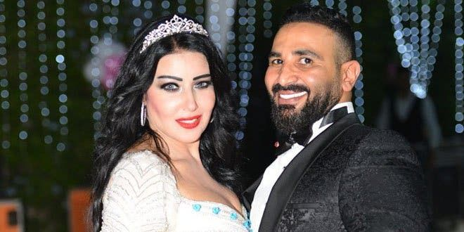 من زفاف أحمد سعد وسمية الخشاب