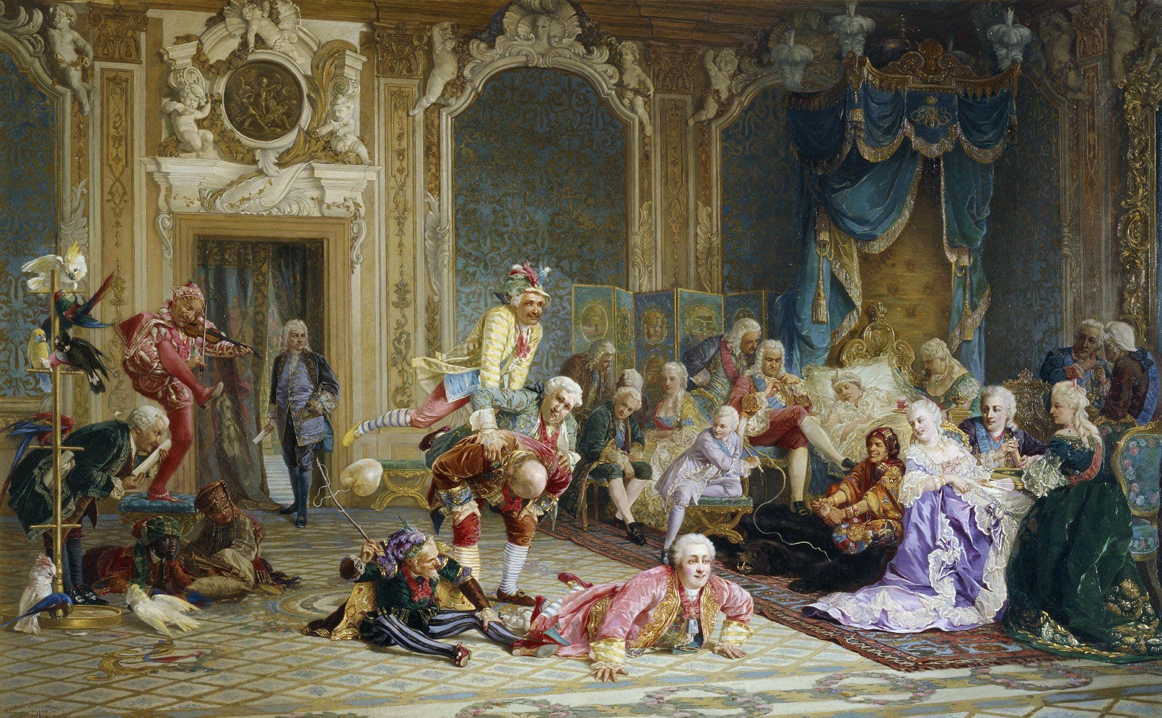 لوحة تجسد المهرجين بقصر الإمبراطورة آنا
