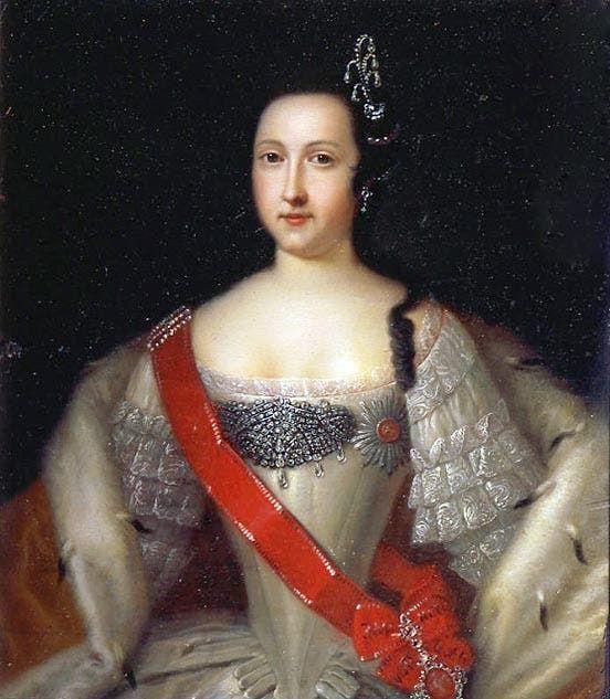 لوحة تجسد الوصية على العرش آنا التي حكمت اثناء عهد إبنها إيفان السادس
