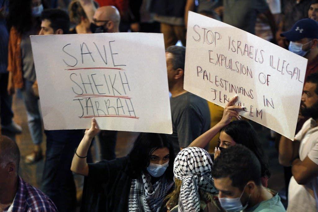 احتجاجات في حي الشيخ جراح (أرشيفية من فرنس برس)
