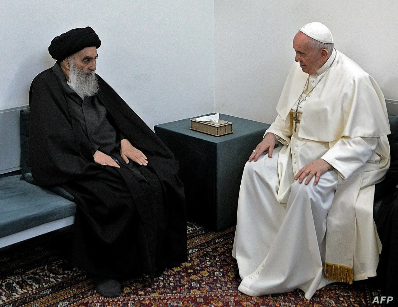 بابا الفاتيكان فرانسيس والمرجع السيستاني