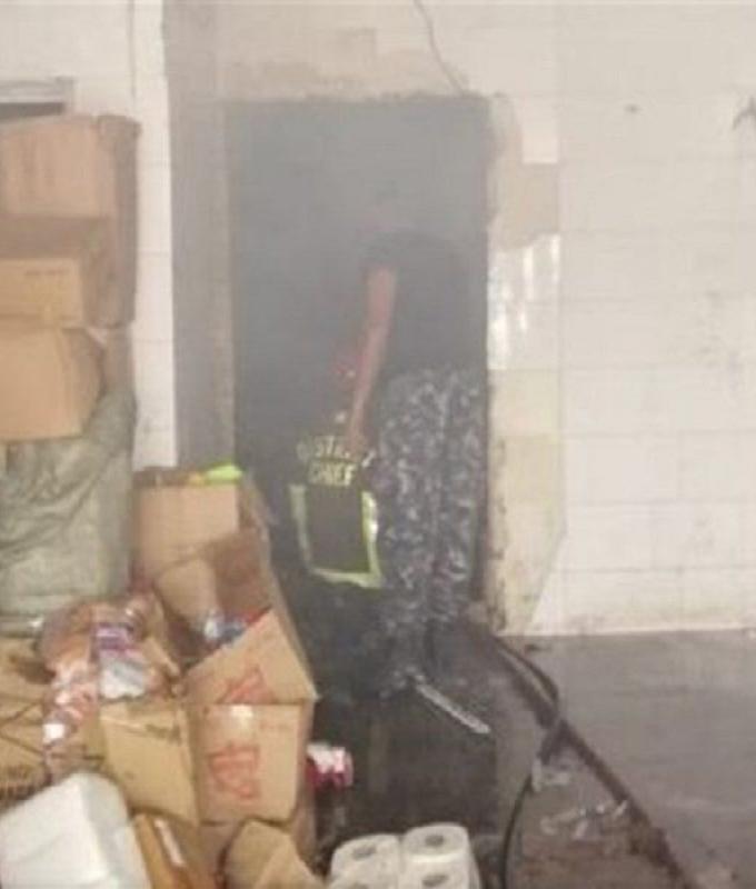 إخماد حريق عند مدخل بيروت الشمالي