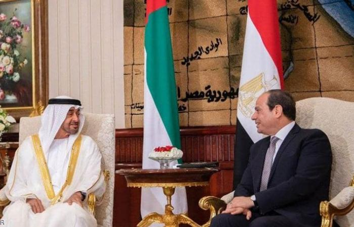 السيسي بعد لقائه بن زايد: أمن الإمارات من أمننا