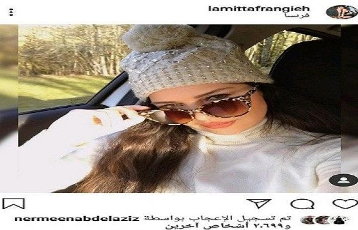 لاميتا فرنجية تستعرض جمالها من داخل سيارتها