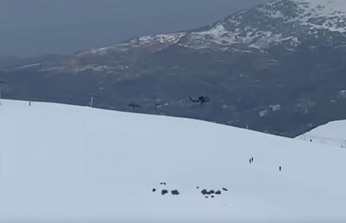 بالفيديو: اصطدام هيليكوبتر عسكرية بكابل الـzipline في كفردبيان
