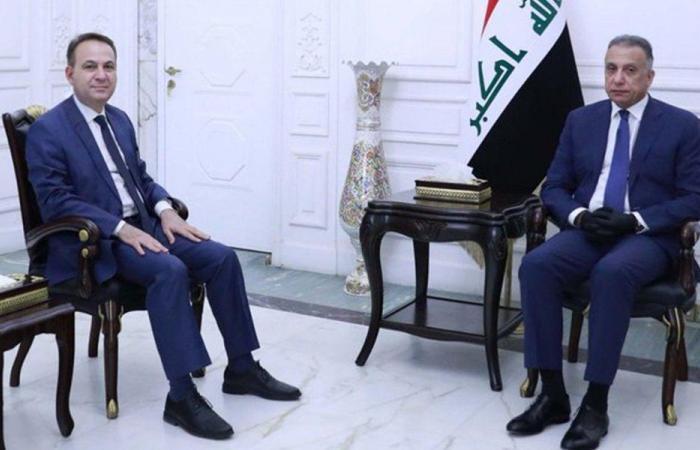 رسالة تهنئة من دياب إلى نظيره العراقي