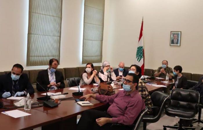 اجتماع للجنة كورونا مع ممثلي منظمات دولية.. وهذا ما تم بحثه