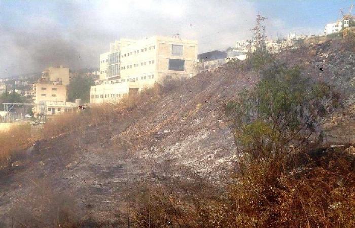 إخماد حريق في نهر إبراهيم