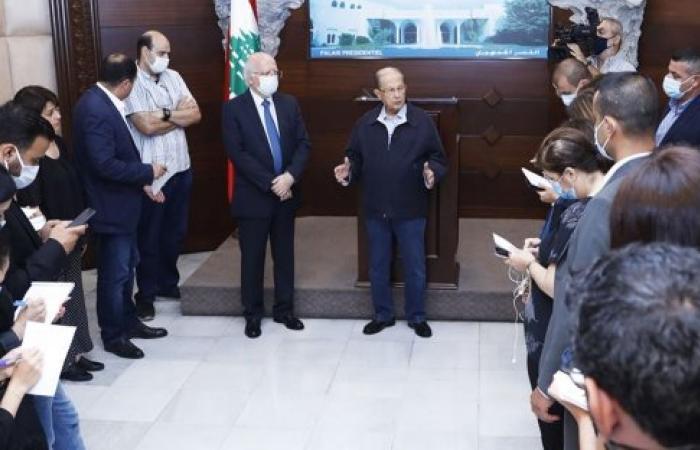 """الرئيس عون: بعد """"تفجيرين تلاتة"""" ونتخطّى أزمتنا الاقتصادية"""