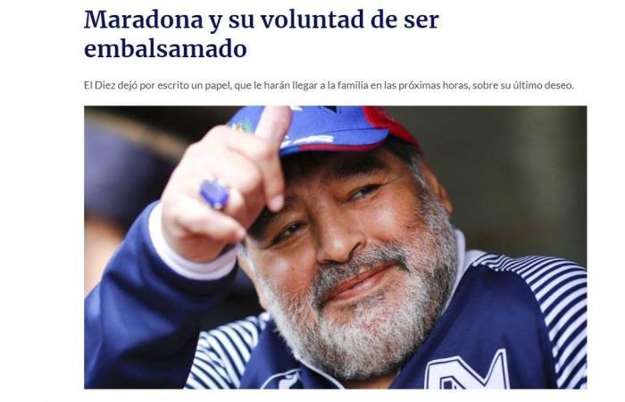 قبل وفاته.. مارادونا طلب حفظ جسده وتحنيطه
