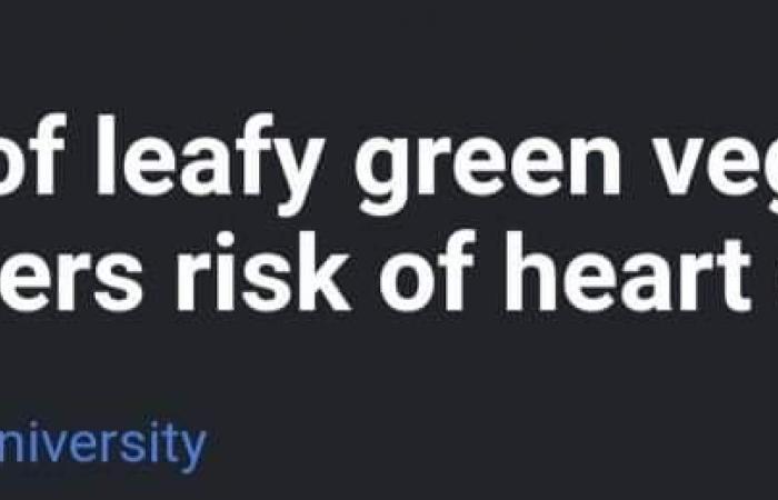 ماذا يفعل كوب واحد من الخضراوات الورقية بقلبك؟ دراسة توضح