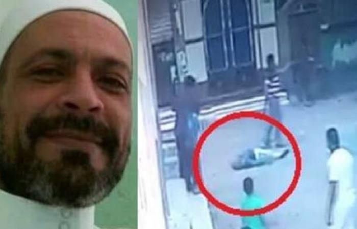 إمام مسجد مصري يظهر بفيديو وهو يسقط قتيلاً بسكين قريبه