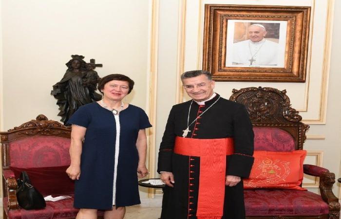 الراعي عرض مع فرويتسكا دور الأمم المتحدة في مساعدة لبنان