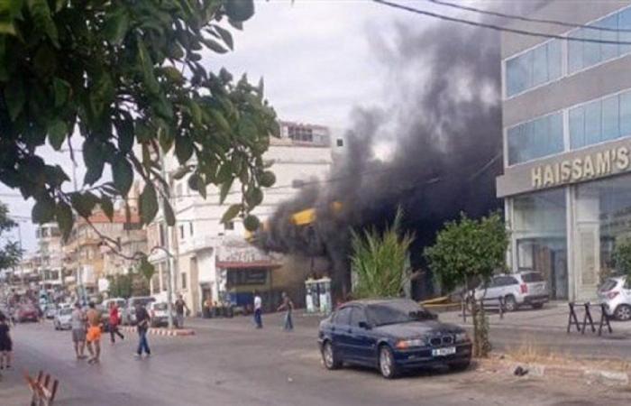 حريق داخل محطة محروقات (فيديو)